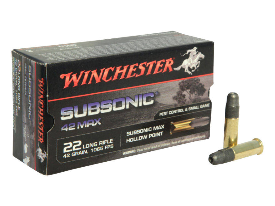 Winchester .22 LR subsonic 40gr